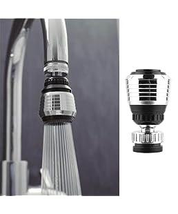 YUTIRITI 1 PCRotate Swivel Faucet Nozzle Filter Purifier Sprayer Water Saving Tap Kitchen Tool - Silver,Black Color