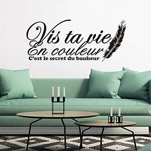 Amazon Com Quotes Wall Stickers Removable Vinyl Art Decal