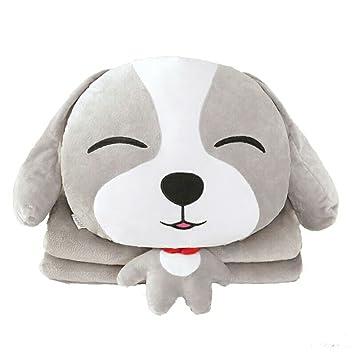 Amazon.com: Perro de dibujos animados cojín manta cojín ...