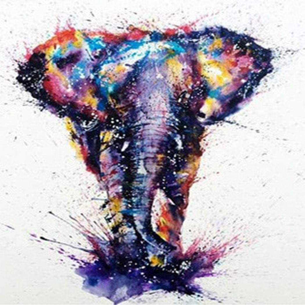 Fanddy DIY Elephant-Pattern Rhinestone Painting Home Living Room Decor Cross-Stitch