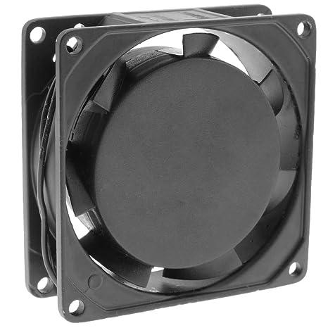 BeMatik - Ventilador de chasis 80x80x25 mm de 220 VAC para caja de ...