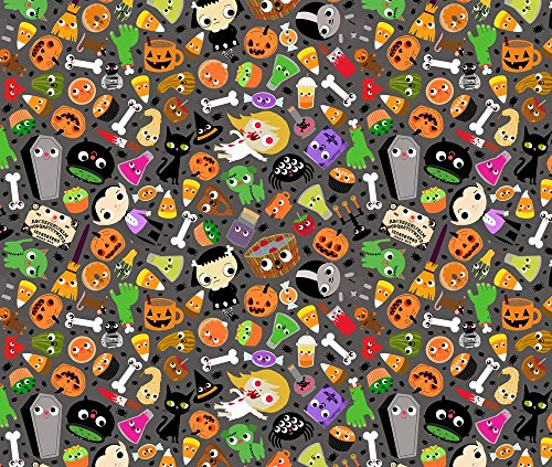 Halloween Mashups (Jack O Lantern Fabric Halloween Mash-Up by Heidikenney Printed on Faux Suede Fabric by the Yard by Spoonflower)