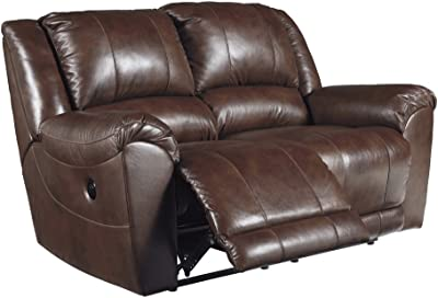 Signature Design by Ashley 6070274 Persiphone Power Reclining Loveseat, Canyon