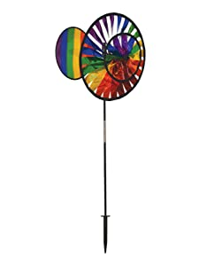 In the Breeze Double Wheel Rainbow Sparkle Spinner with Wind Sail