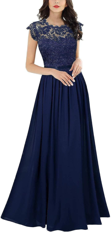 Abendkleider Bekleidung MIUSOL Damen Elegant Ärmellos ...