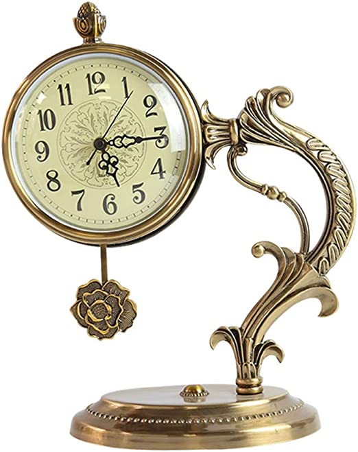 MJZHXM Reloj de Mesa Adornos Reloj Retro Escritorio Escritorio ...