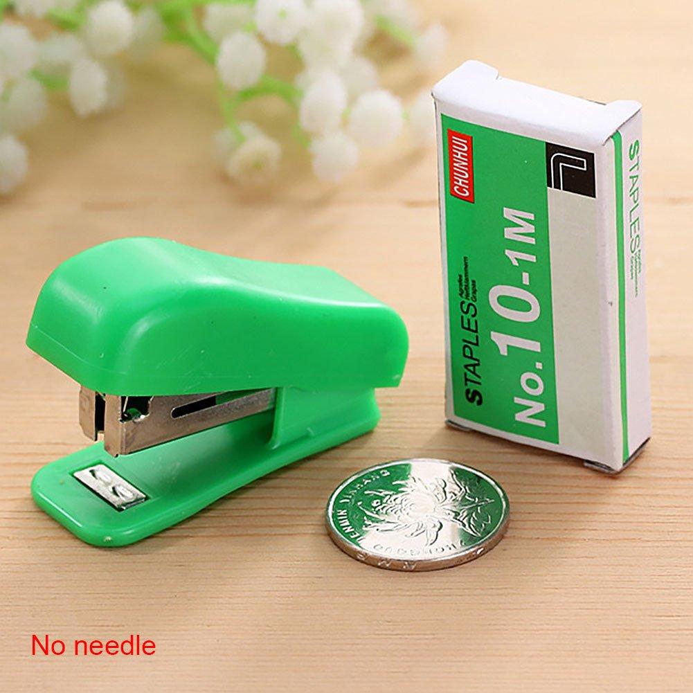Mini cucitrice 5PCS colore casuale plastica metallo piccola cucitrice cute Stationery Office for No 10/Staples