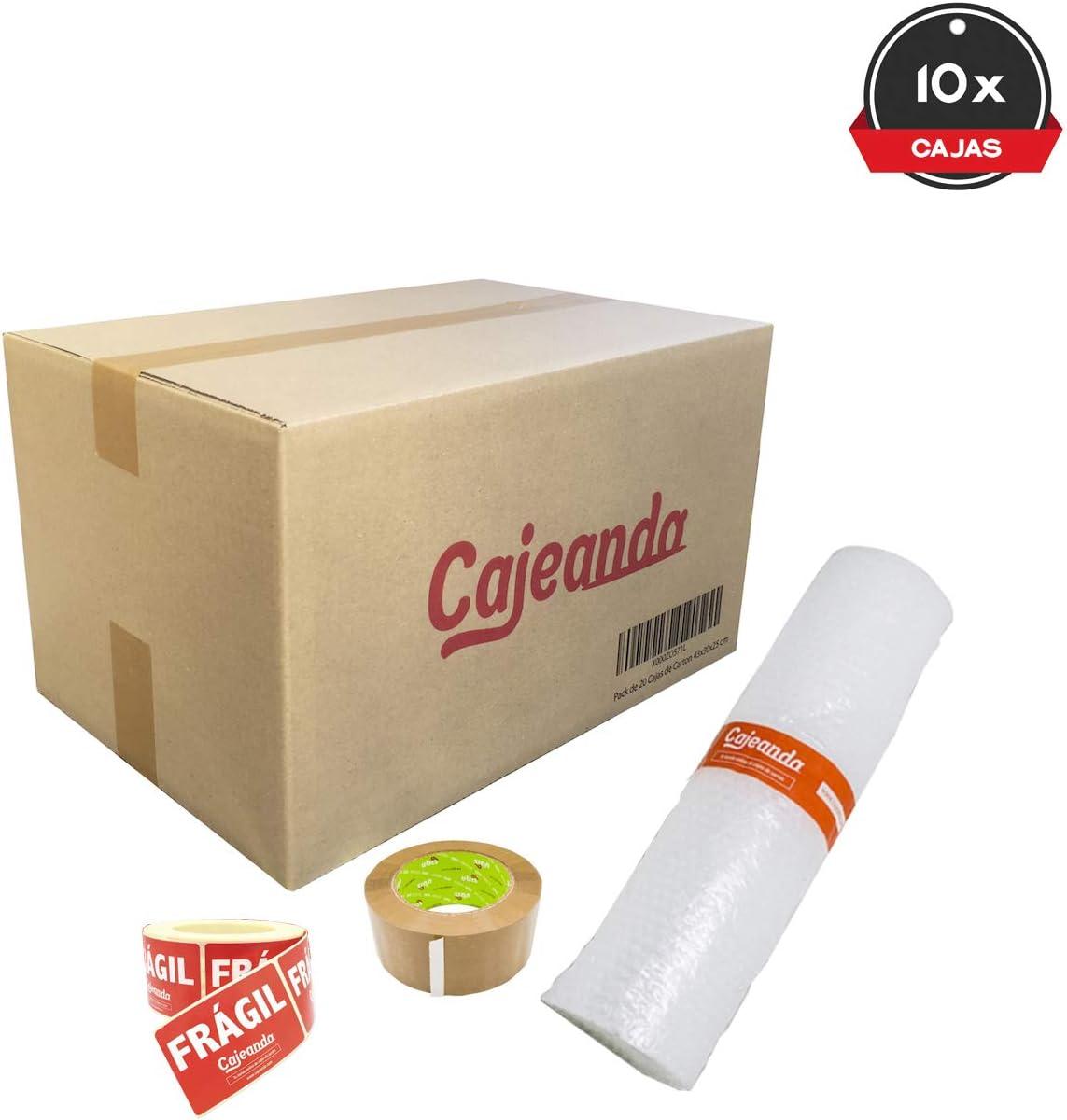 Cajeando | Pack Mudanza Básico de 10 Cajas de Cartón Tamaño 430 x ...
