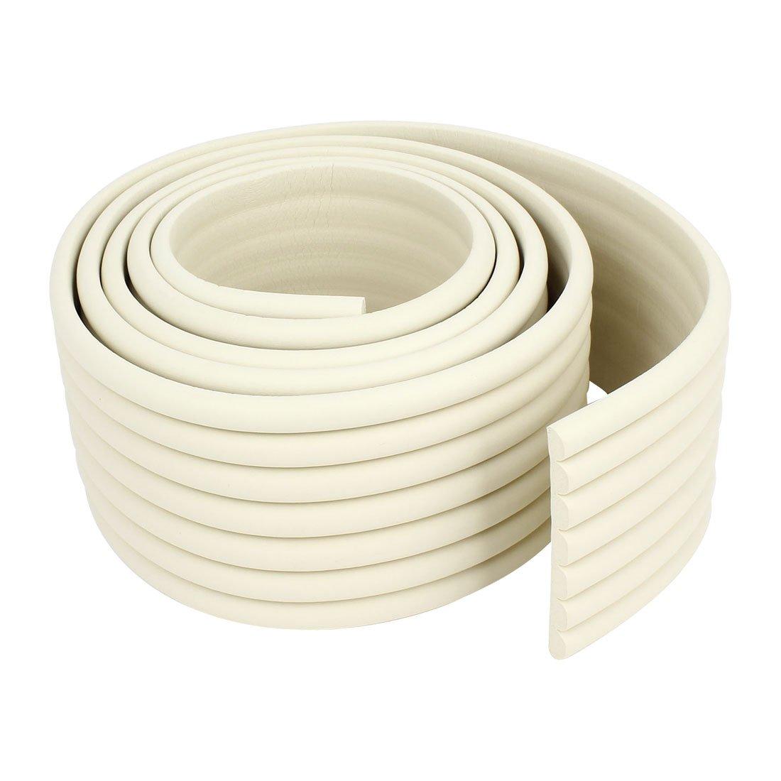 uxcell Off White Soft Flexible Foam Table Protector Edge Guard Strip 2M Long a14080600ux0173