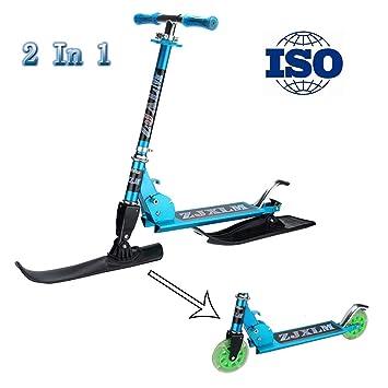 RISILAYS Coches de esquí Scooter Plegable 2 en 1 - con ...