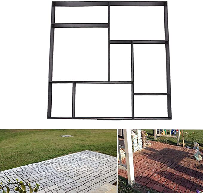 Yardwe Muffa per Pavimentazione Esagonale Stampo per Pavimento in Cemento Nero Stampo per Cemento Stampo Fai-da-Te Strumenti per Il Giardino Patio Prato Passerella