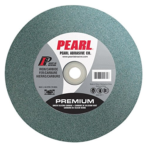 Pearl Abrasive BG610120 Green Silicon Carbide Bench Grinding Wheel with C120 Grit by Pearl Abrasive