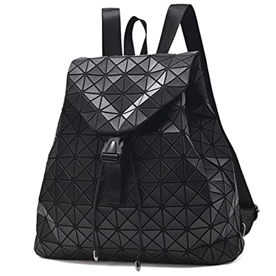 988cd9b1b1 Amazon.com  Black Geometric Backpack Purse for women Luminous Travel  backpack School Backpacks Backpack for Women (Backpack Black Lattice)  Shoes