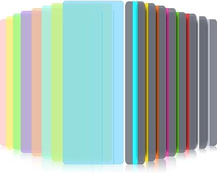 Aohua Characteristic Guiado Lectura Subrayar Tiras Teñidos Cubierta Lectura Tracking Reglas para Dislexia, Adhd y a Reductor Visual Estrés, Pack de 16: Amazon.es: Oficina y papelería