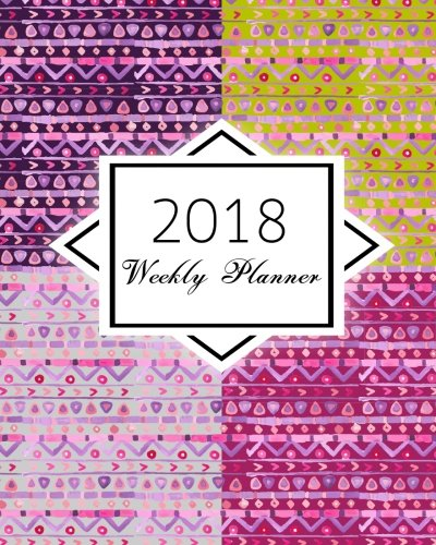 2018 Weekly Planner: Various-watercolor-boho : calendar schedule journal plan and organize monthly and weekly  (Academic Monthly and Weekly Planner)