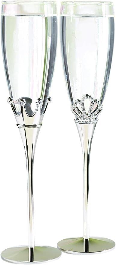 Hortense B Hewitt Copas para brindis Accesorios de Boda diseño Rey y Reina Juego de 2