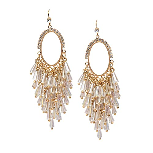 d5d6193f4a9 Buy The Bling Stores Stylish White Crystal Tassel Earrings For Girls Women  Online at Low Prices in India