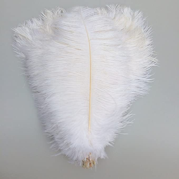 KOLIGHT 40pcs 12~14 Natural Ostrich Feathers for DIY Home Wedding Party Office Decoration Black 30~35cm