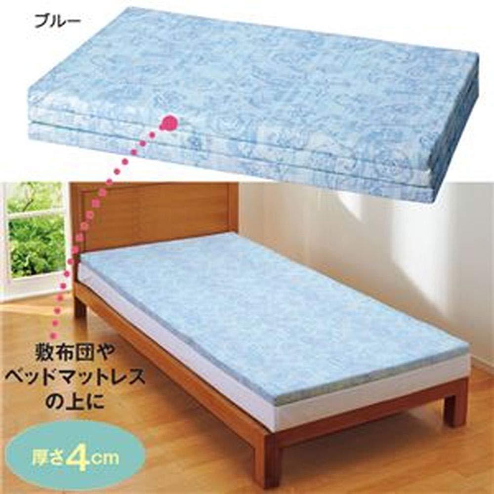 バランスマットレス/三つ折りマットレス/ベージュ/セミダブルサイズ/厚さ4cm /ベッド用/布団用 B07TDGNMKB