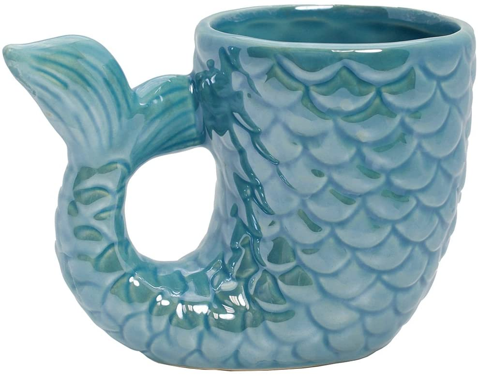 Amazon Com Mermaid Tail Coffee Mug Kitchen Dining