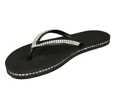7f7636bee734 SUGAR ISLAND® LADIES GIRLS DIAMANTE FLIP FLOPS SANDALS  Amazon.co.uk  Shoes    Bags