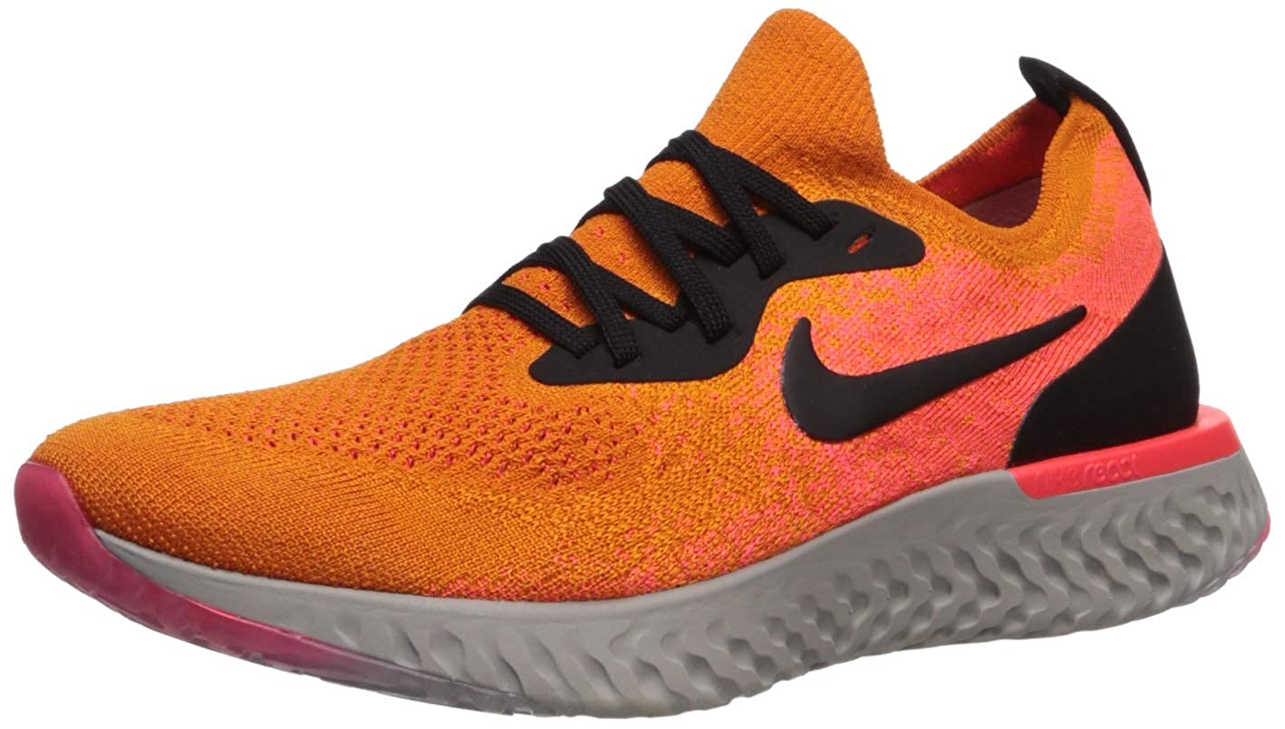 WMNS Nike Epic React Flyknit Pink Yellow Black Grey Running Shoes For Sale