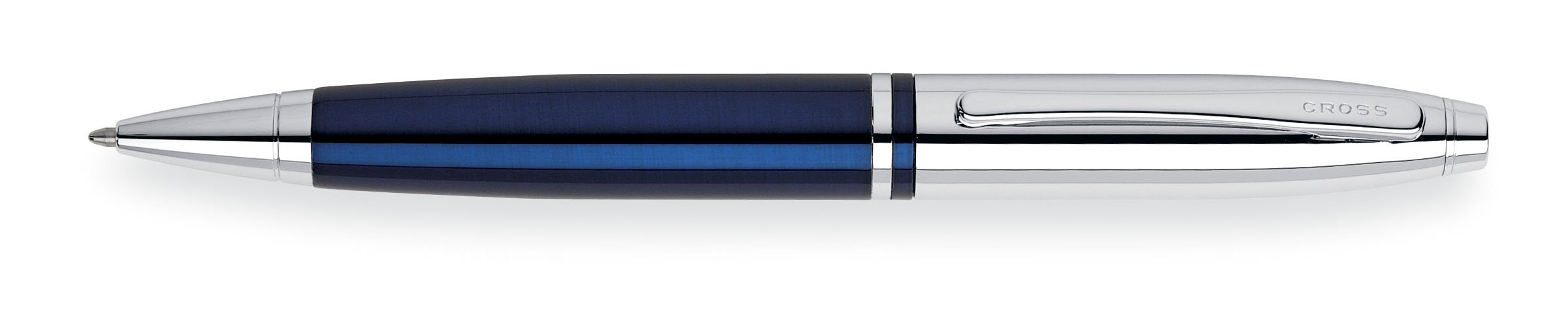 Cross Calais Chrome/Blue Lacquer Ballpoint Pen by Cross (Image #1)