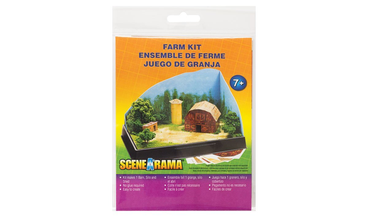 Amazon.com: Woodland Scenics WOOSP4241 Scene-A-Rama Farm Kit: Toys & Games