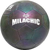 BESPORTBLE Balón de Fútbol Reflectante Brillante Holográfico PU Fútbol Luminoso Iluminar Balón de Fútbol Que Brilla en…