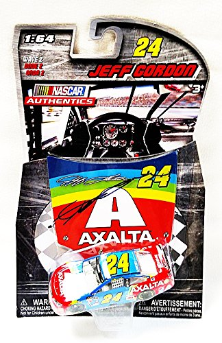 AUTOGRAPHED 2015 Jeff Gordon #24 Axalta Racing Team RETRO RAINBOW PAINT SCHEME (Bristol Motor Speedway) Hendrick Motorsports Signed NASCAR Authentics Wave 2 Lionel 1/64 Scale Collectible Diecast Car with COA (Diecast Nascar Paint)
