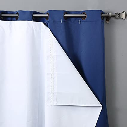 Amazon.com: RHF Thermal Insulated Blackout Curtain Liner for 84 inch ...
