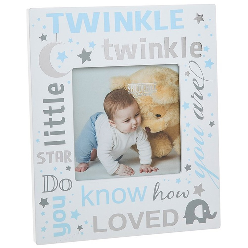 Twinkle Twinkle Little Star Picture Photo Frame ~ Baby Boy Blue