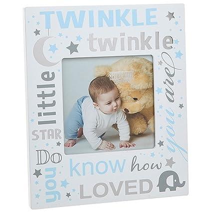 Twinkle Twinkle Little Star marco de fotos ~ Baby Boy azul: Amazon ...
