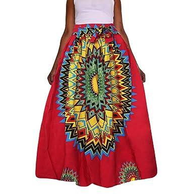 Frauen Dashiki Print Chiffon-Kleid VENMO Hohe Taille Party Boho ...