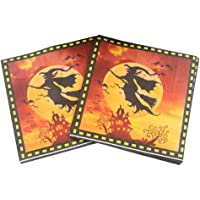Toyvian Halloween Napkins Tissue with Witch Patterns for Party Supplies 60 Sheets