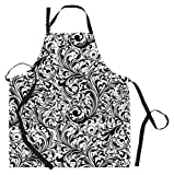 Michel Design Works Cotton Chef Apron, Black Florentine