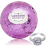 Bath Bomb with Ring Surprise Inside Enliven Me Lavender Extra Large 10 oz. Handmade in USA