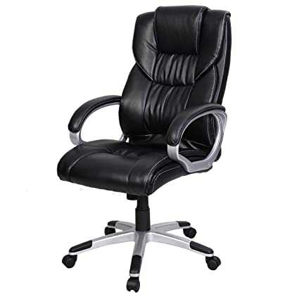 amazon com giantex pu leather ergonomic high back executive