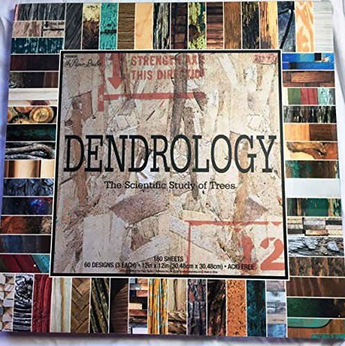Dendrology 12x12 Scrapbooking Paper Pad Trees,Bark, Wood, Drywood, 180 Sheets -