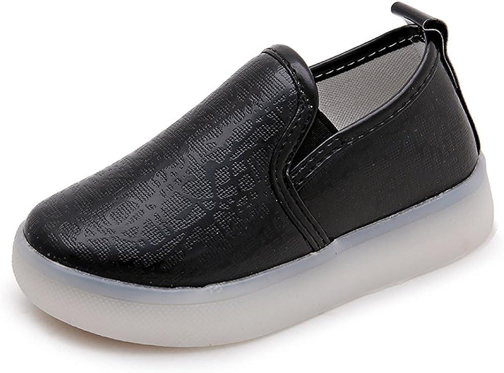 24XOmx55S99 Non-Slip,Kids Baby Boys Girls LED Light Up Shoes Non-Slip Flat Slip-On Casual Sneaker