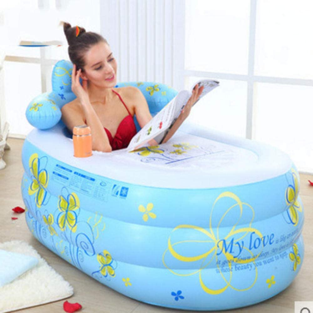 Foldable Inflatable Adults Bathtub,Adult Inflatable Bathtub air Pump@Blue/_Large Bath tub Bath tub Bath tub