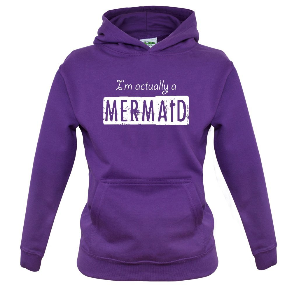 1-13 Years Kids Hoodie 9 Colours Im Actually A Mermaid