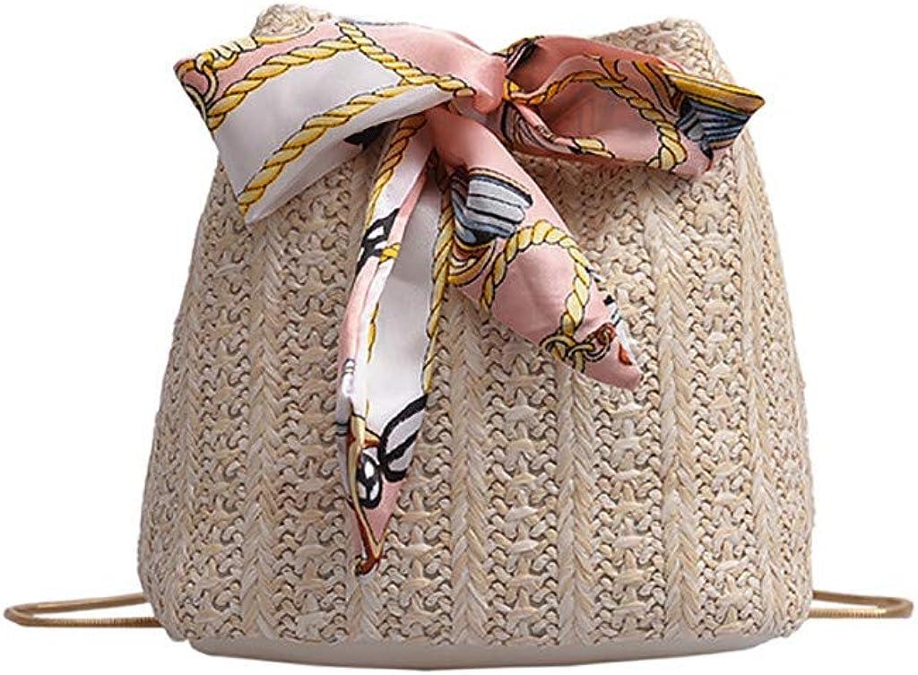 Women's Straw Handbags Rattan Bags for Women,TOTOD Summer Beach Weave Chain Small Crossbody Shoulder Bag