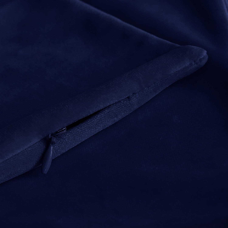 Word Print Pillow Blue 18x18, E by design PWN510BL18BL16-18 18 x 18-inch,Tranquility
