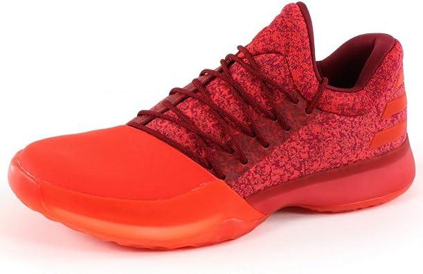 prisión Psiquiatría Museo  adidas Harden Vol 1 - Zapatillas de Baloncesto de piel y tela Hombre, Rojo  (rojo), 51 1/3 EU: Amazon.es: Zapatos y complementos