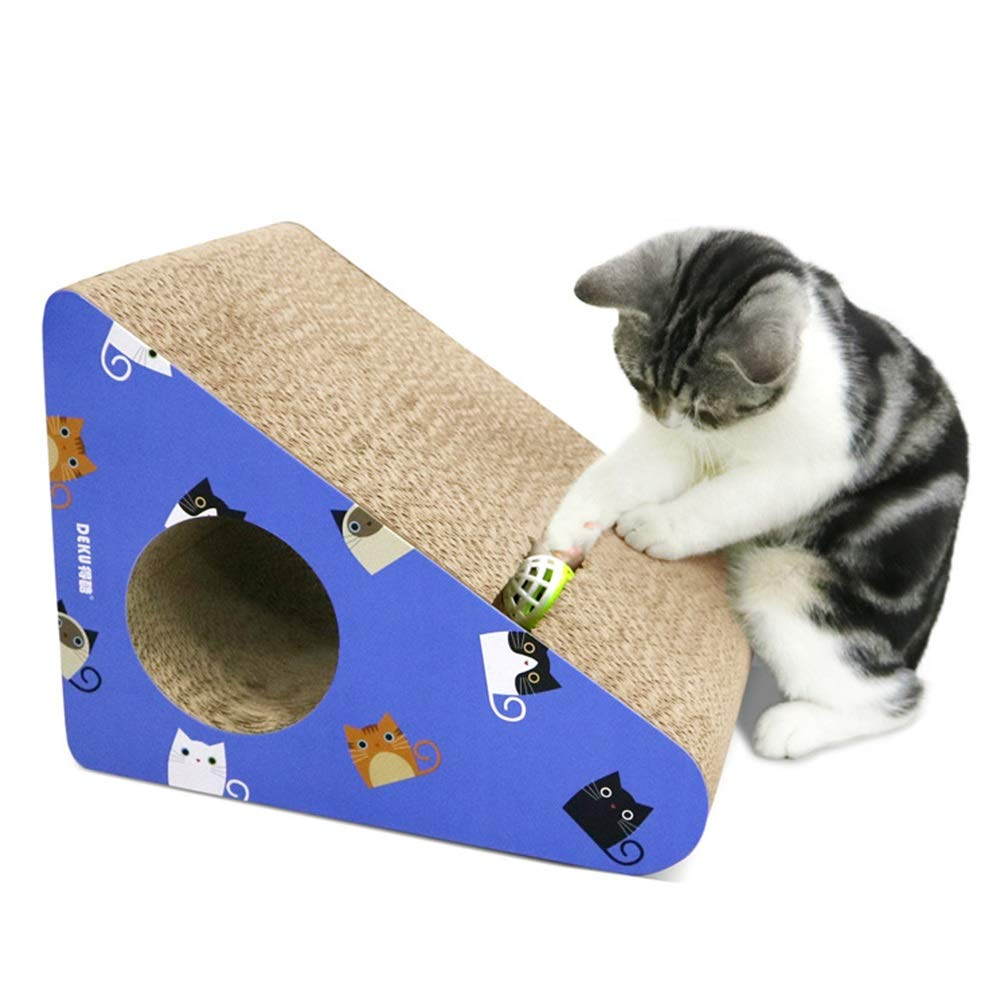 ETH Cat Kitten Scratch Board Corrugated Paper Cat Toilet Mats Folding Cat Claws Toy Cat Pet Supplies Cat Sofa Paw Care Toys Cat Scratcher,Infinity Lounge