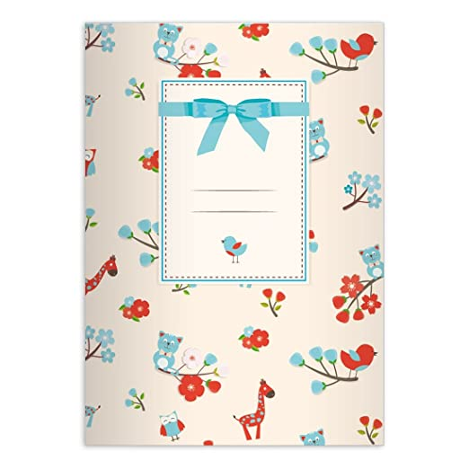 Bonito DIN A4 Cuaderno escolar, - Cuaderno con jirafas ...