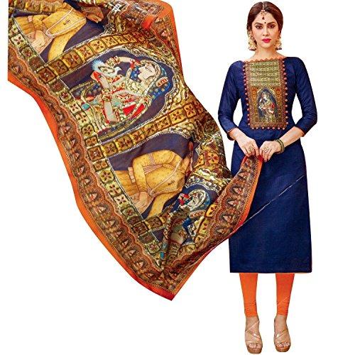 Readymade Designer Salwar Kameez Cotton With Exclusive Ethnic Printed Cotton Dupatta Figure Prints - Exclusive Salwar