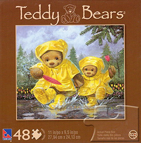 Teddy Bears After the Downpour - 48 Piece Jigsaw Puzzle