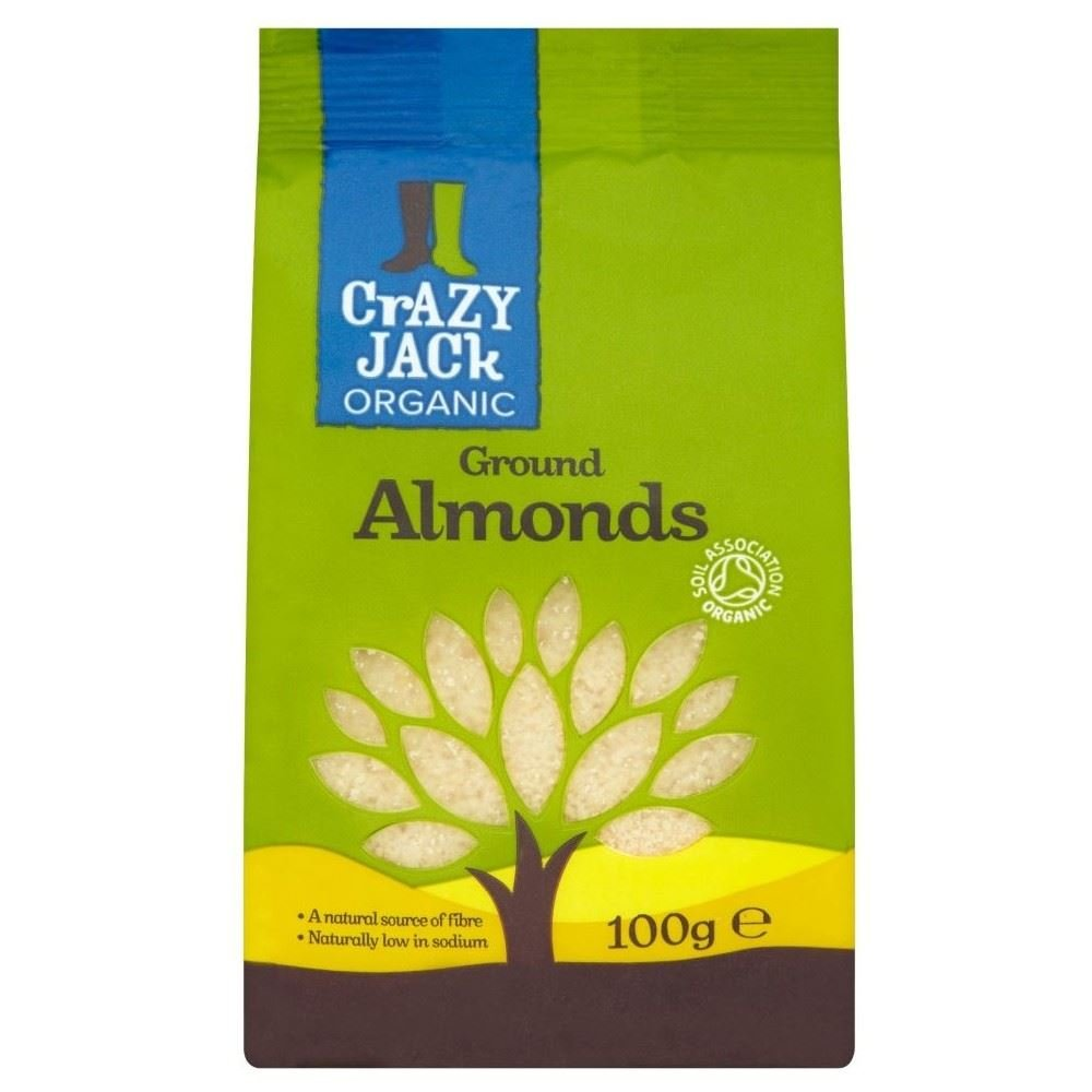 Crazy Jack Organic Ground Almonds (100g) - Pack of 6